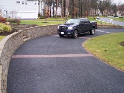 Charcoal Marble Chip Residential Driveway