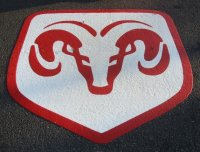 Dodge Ram Thermoplastic Logo