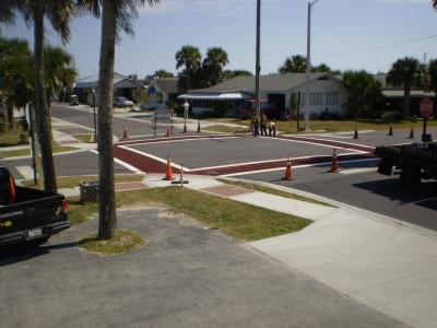 FrictionPave Crosswalks - Herringbone Modèle 4