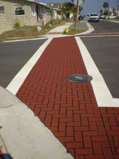 FrictionPave Crosswalks - Herringbone Modèle 5
