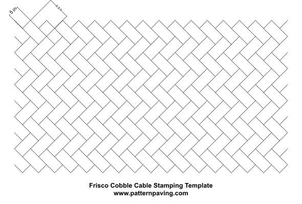 stamped asphalt cable templates
