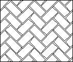 Diagonal Herringbone Plastic StencilCoat Pattern