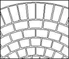 Large Circle Plastic StencilCoat Pattern